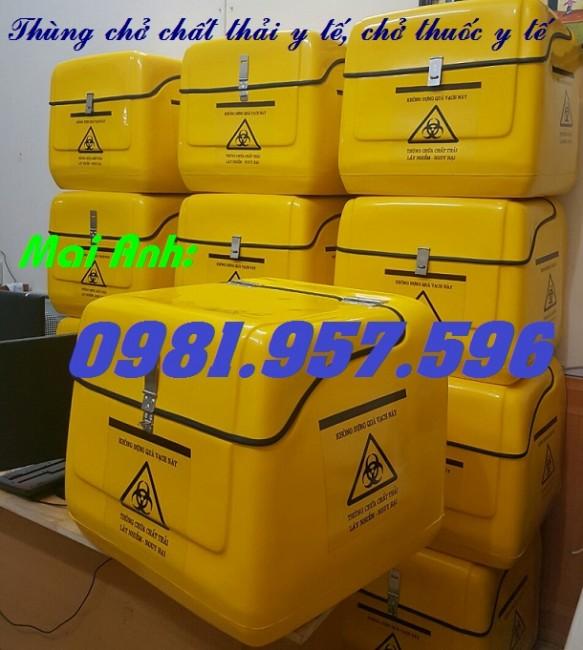 Thùng chở hàng y tế, thùng chở chất thải y tế