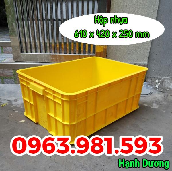 Thùng đặc cao 25cm, hộp nhựa HS017