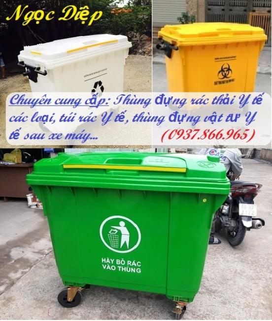 Thùng đựng  rác thải Y tế, thùng đựng rác lây nhiễm