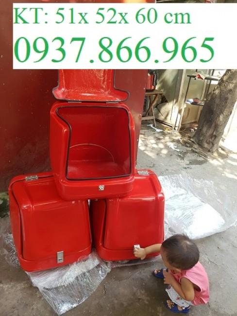 Thùng giao hàng ăn nhanh,thùng chở hàng tại hà nội, thùng nhựa composite