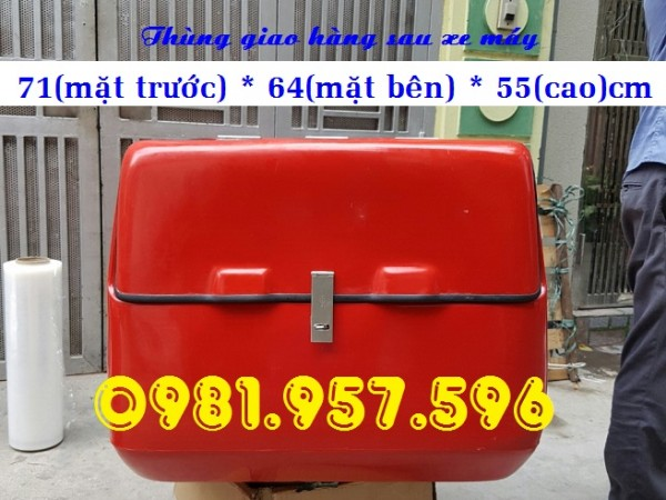 Thùng giao hàng lớn, thùng giao hàng kích thước lớn cho xe máy