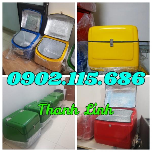 Thùng giao hàng, thùng giao hàng hóa mỹ phẩm sau xe máy, thùng giao hàng dữ nhiệt sau xe máy,