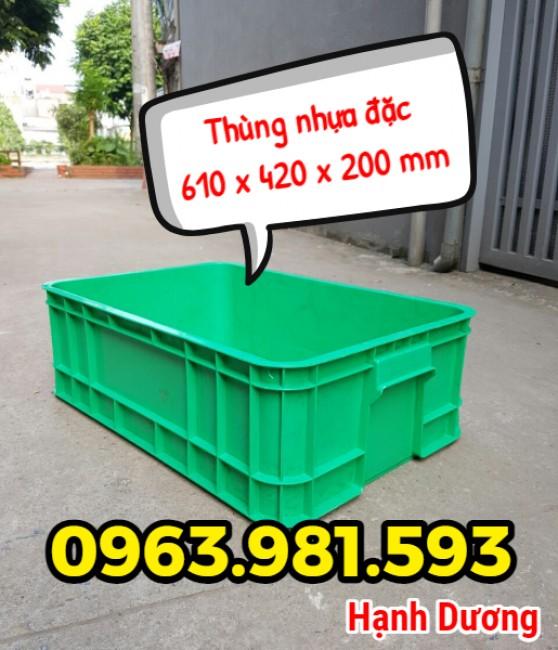 Thùng nhựa đặc B1, hộp nhựa cơ khí, thùng đặc cao 20cm