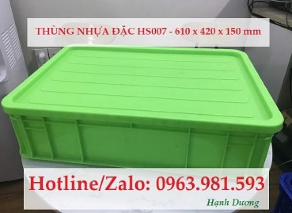 Thùng nhựa đặc HS007, sóng nhựa bít HS007, khay nhựa HS007, hộp nhựa HS007