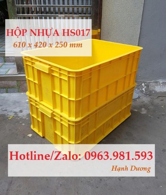 Thùng nhựa đặc HS017, hộp nhựa, sóng nhựa bít