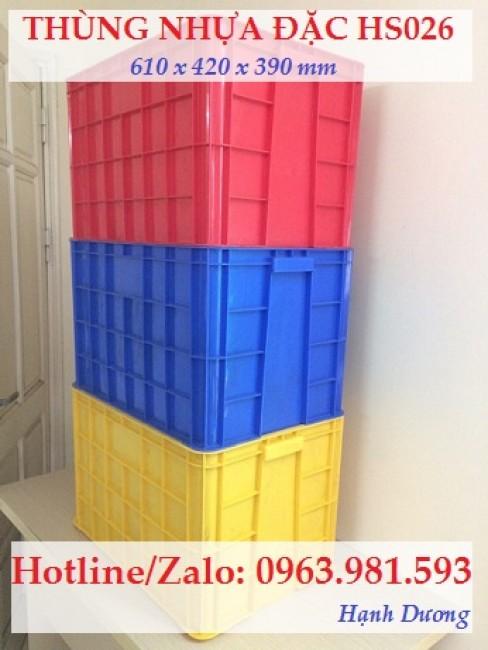 Thùng nhựa đặc HS026, sóng nhựa bít HS026