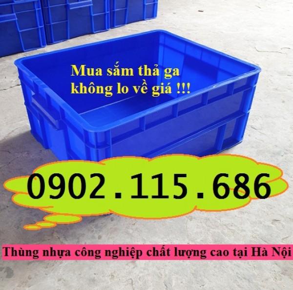 Thùng nhựa đặc, sóng nhựa bít, thùng nhựa công nghiệp cao cấp, thùng nhựa có nắp, thùng nhựa B8,