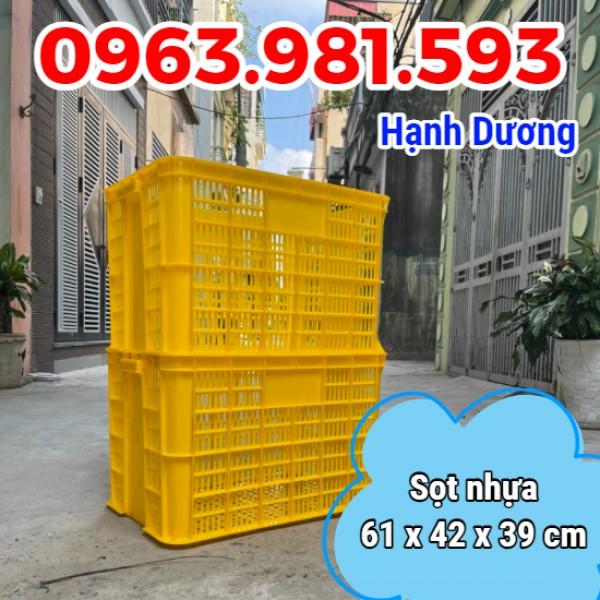 Thùng nhựa rỗng HS005, sọt nhựa 3T9