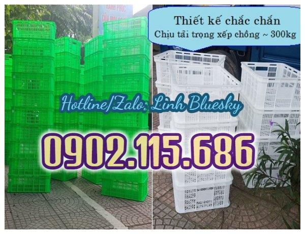 Thùng nhựa rỗng Hs018, thùng nhựa hở Hs018, sóng nhựa hở