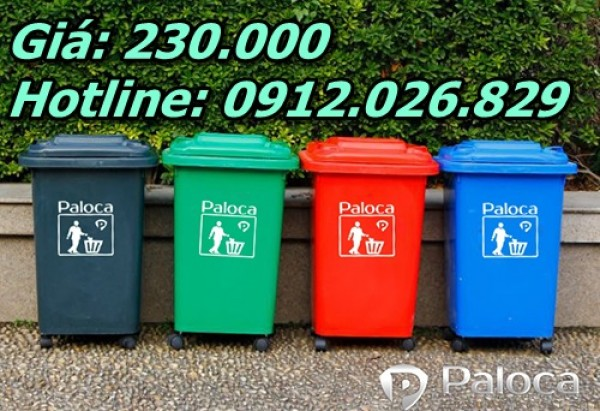 Thùng rác công nghiệp 60L, 60 lít giá rẻ