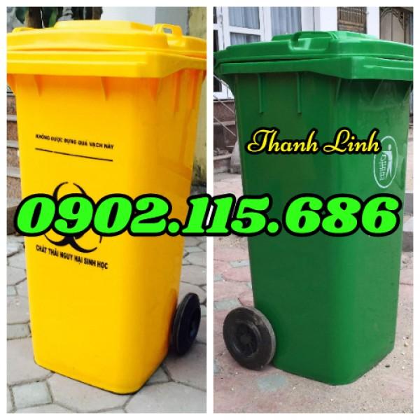 Thùng rác nhựa 240 lít,  thùng rác nhựa nắp kín 240 lít,