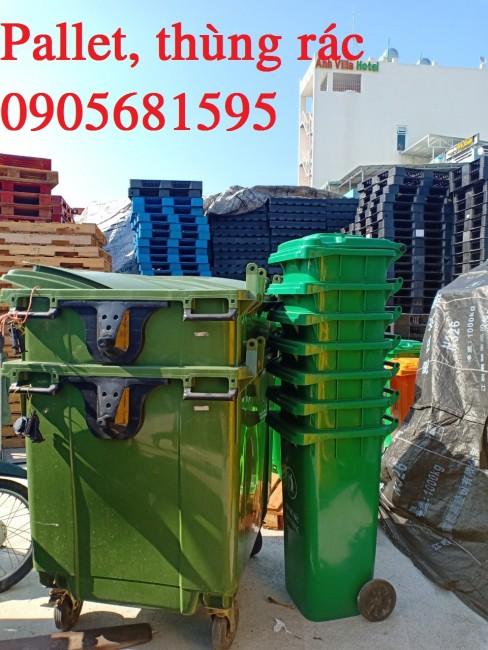 Thùng rác nhựa HDPE 660L - NHận giá cố miệng thùng giá rẻ 0905681595 ms. Oanh