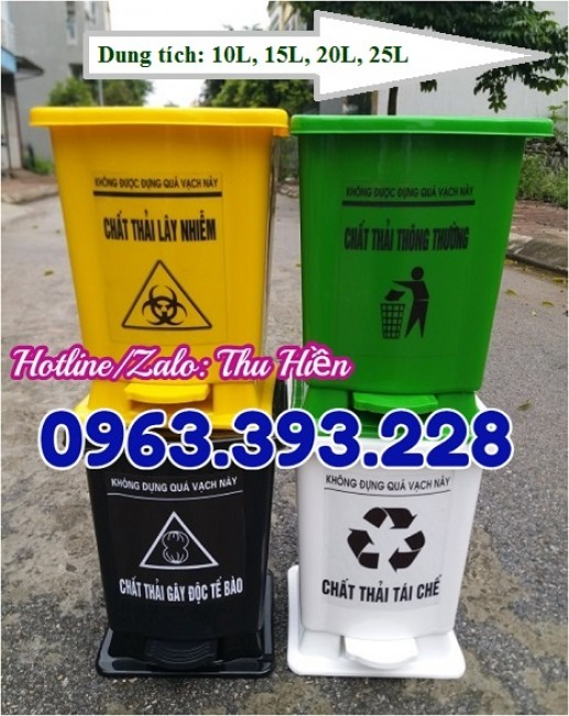 Thùng rác y tế đạp chân giá rẻ, chuyên cung cấp thùng rác y tế, thùng rác y tế tại Hà Nội