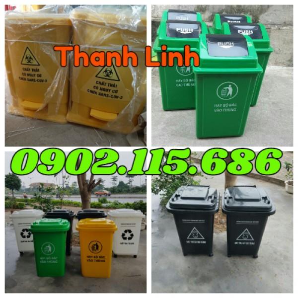 Thùng rác y tế, thùng rác đạp chân, thùng rác có nắp mở,