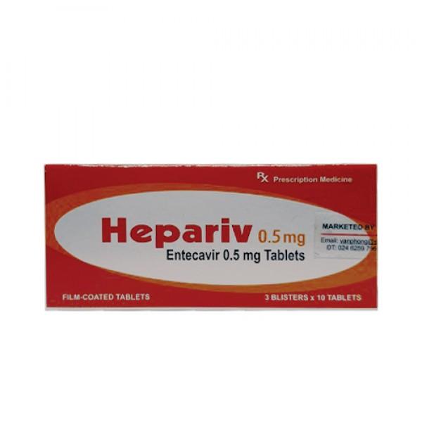 Thuốc Hepariv 0.5mg Giá bán, liều dùng, mua RẺ NHẤT Hà Nội, HCM?