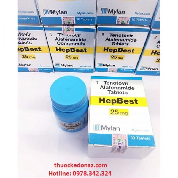Thuốc HepBest 25mg (Tenofovir Alafenamid) – Cách dùng, Liều dùng, Giá bán