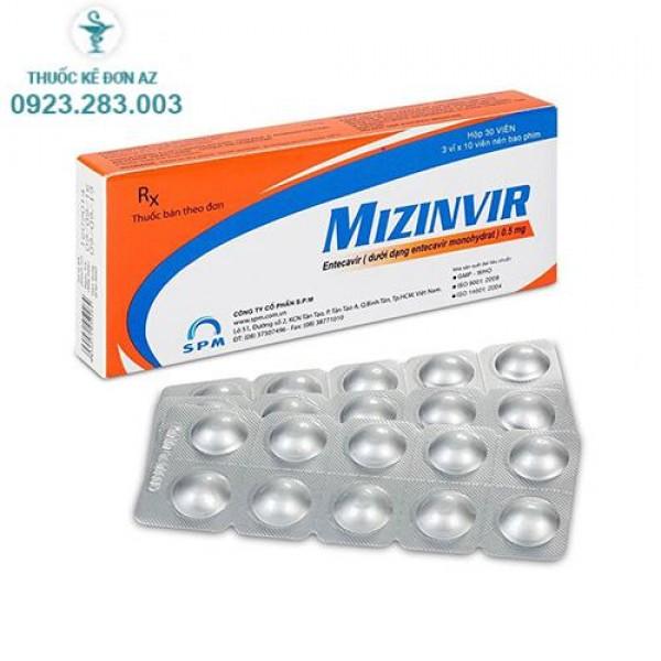 Thuốc Mizinvir 0,5mg - Thuốc điều trị viêm gan B (Hộp 30 viên)