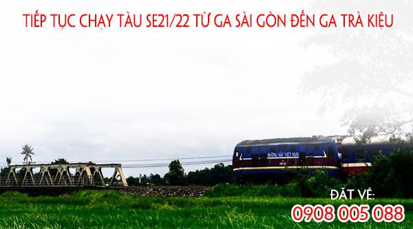 Tiếp tục chạy tàu SE21/22 từ ga Sài Gòn đến ga Trà Kiệu