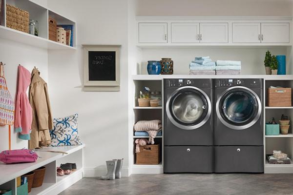 Tiết kiệm không gian chật hẹp với cách bày trí máy giặt