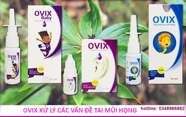 Trẻ viêm mũi lâu ngày hay ốm vặt mẹ dùng ngay Ovix baby vệ sinh mũi an toàn cho bé - ovixbaby.com
