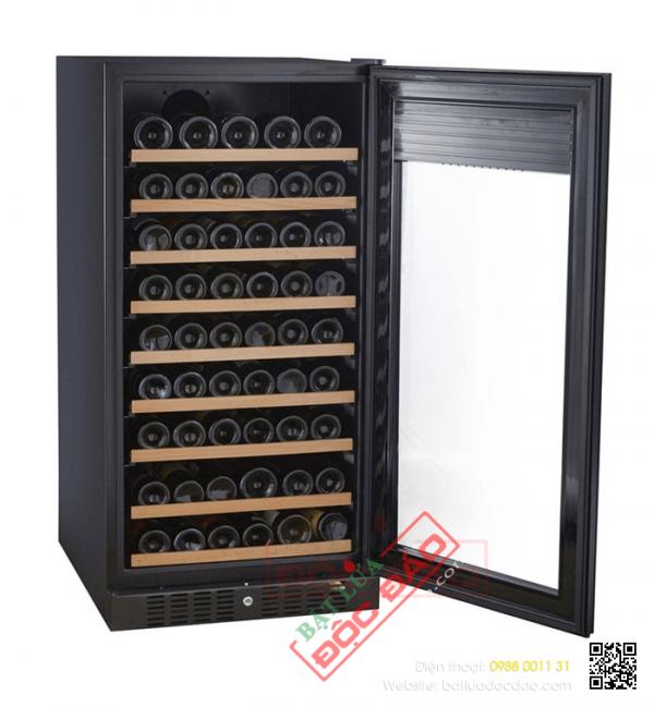 Tủ bảo quản rượu vang Kadeka cửa kính 3 lớp chống tia UV 106TL/TR