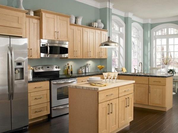 Tủ bếp acrylic sang trọng hiện đại.