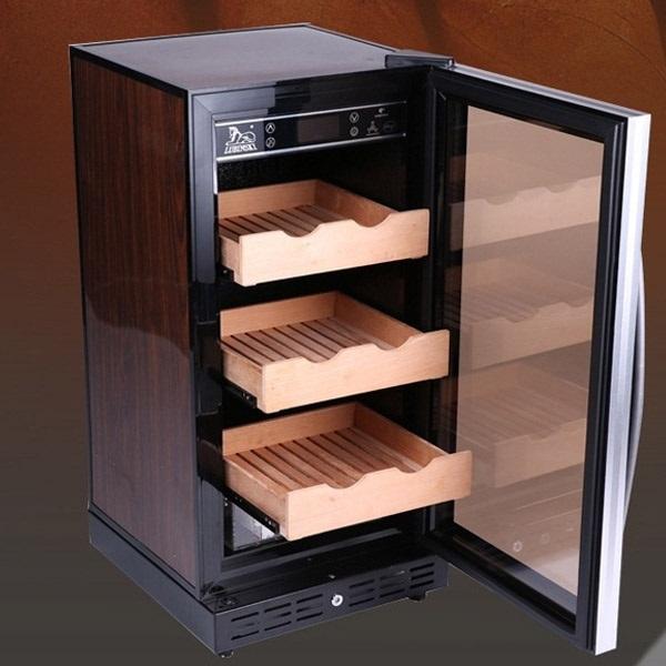 Tủ cắm điện bảo quản xì gà Lubinski RA777, quà biếu sếp nam