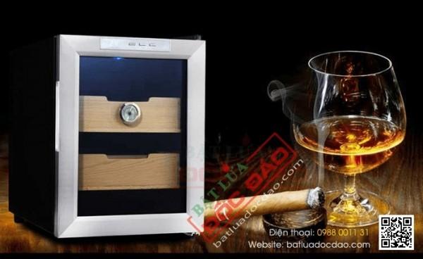 Tủ điện bảo quản xì gà Vinocave 2 tầng H828, 100 điếu, giá tốt