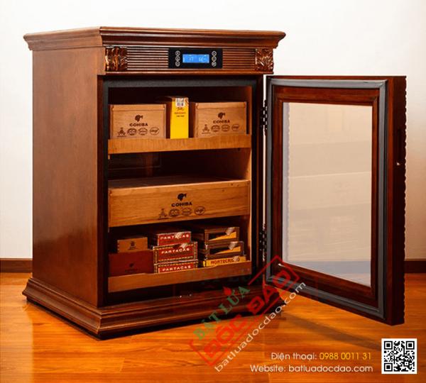 Tủ điện giữ ẩm xì gà Cohiba CH98 gỗ sồi 3 tầng