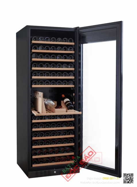 Tủ lạnh bảo quản rượu vang Kadeka 194TLTR cửa kính tràn không vành