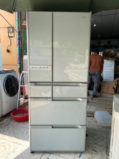 Tủ lạnh GƯƠNG Hitachi R-Y6000 602L 2009 hút chân không siêu to