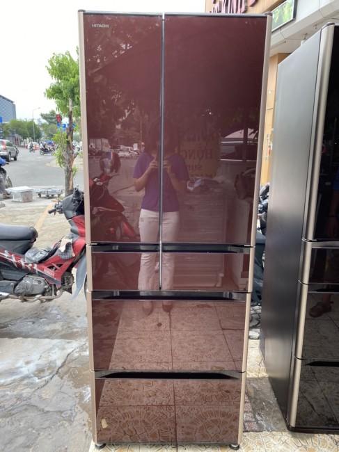 Tủ lạnh HITACHI R-XG4800G - MẶT GƯƠNG NÂU ĐỎ - DATE 2017