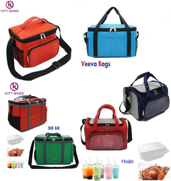 Túi giữ nhiệt, túi giao hàng, túi hộp cơm,...giá từ 29000đ. Nhiều mẫu nhiều size từ KiTy Bags