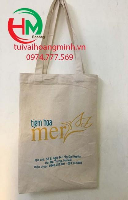 Túi vải bố quà tặn khai trương Tiệm hoa Merss