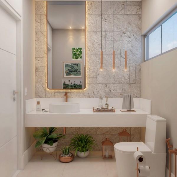 Tuyệt chiêu giúp tăng sức hấp dẫn cho phòng tắm nhỏ