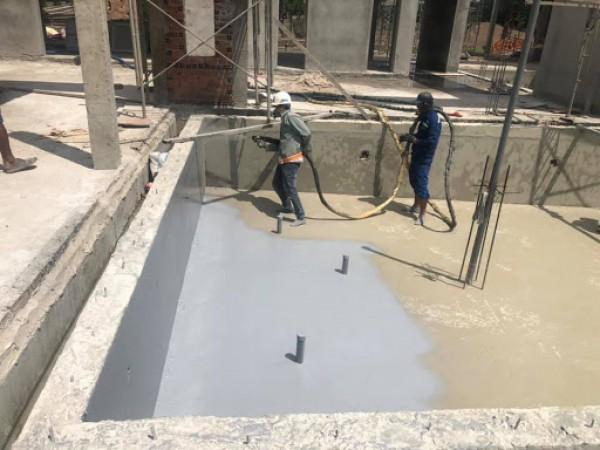 Ứng dụng bê tông phun trong xây dựng