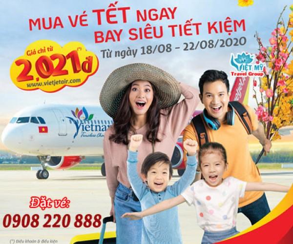 Ưu đãi vé Tết chỉ từ 2.021 đồng của Vietjet Air