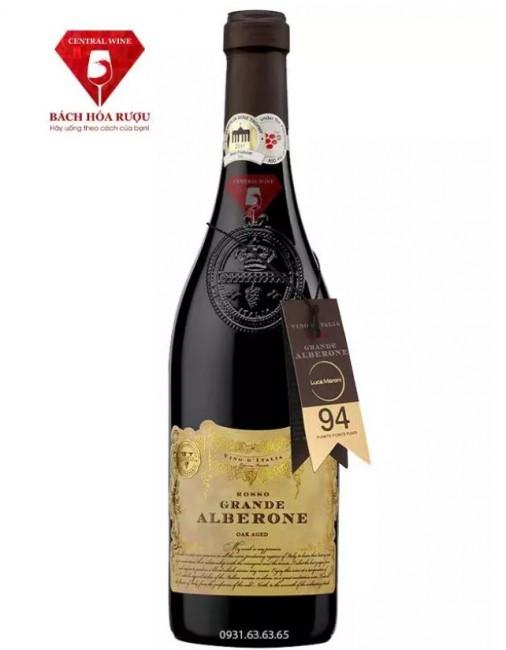 Vang Ý Grande Alberone Vino Rosso Oak Aged 14,5% 75cl