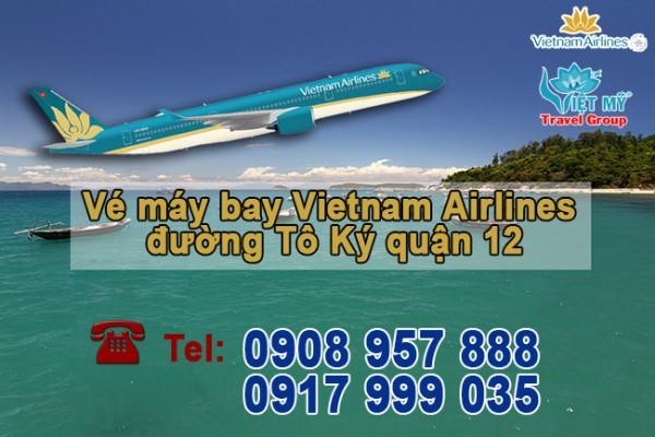 Vé máy bay Vietnam Airlines đường Tô Ký quận 12