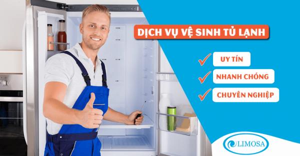 Vệ sinh tủ lạnh quận 3 sạch sẽ - uy tín Limosa