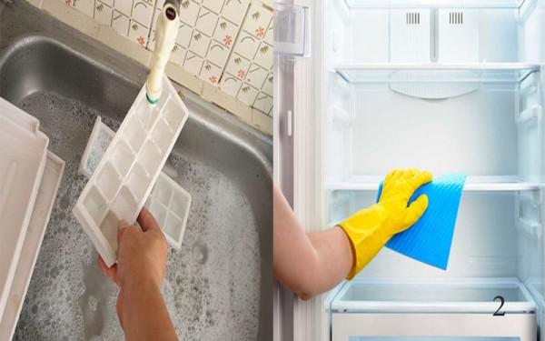 Vệ sinh tủ lạnh với 5 bước đơn giản