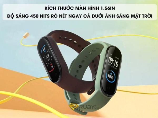Vòng đeo tay sức khoẻ Mi Band 5 Xiaomi Tiếng Việt Miband