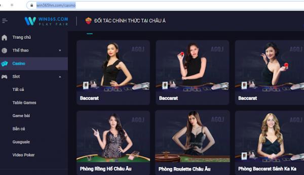 Win365 casino cung cấp những trò chơi nào?