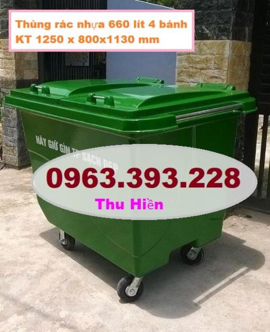 Xe gom rác thải công cộng, xe gom rác nhựa HDPE, thùng rác nhựa giá rẻ