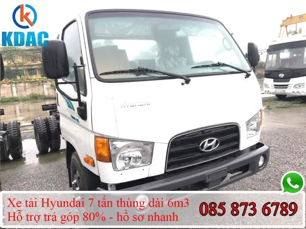 Xe Hyundai New Mighty 110XL 7 tấn thùng dài 6m3