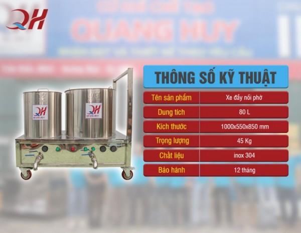 Xe phở inox 304 giá tốt nhất Hà Nội