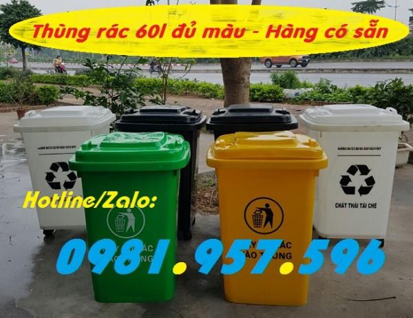Xe rác 60l, thùng rác bệnh viện, thùng rác y tế