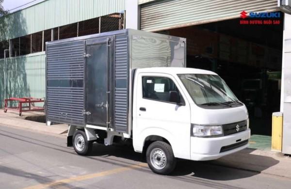 Xe Suzuki Carry Pro Đời 2021, Nhập khẩu màu trắng, Thùng kín Tải trọng 700kg