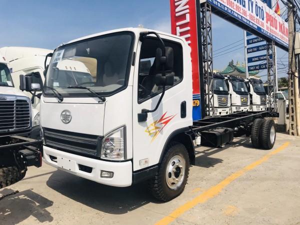 Xe tải 7 Tấn 3 — Faw máy Hyundai Ga cơ — Thùng bạt dài 6M2 lh: 0357764053