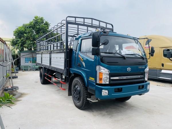 Xe tải 8 tấn thùng chở phế liệu bao bì giấy- ga cơ